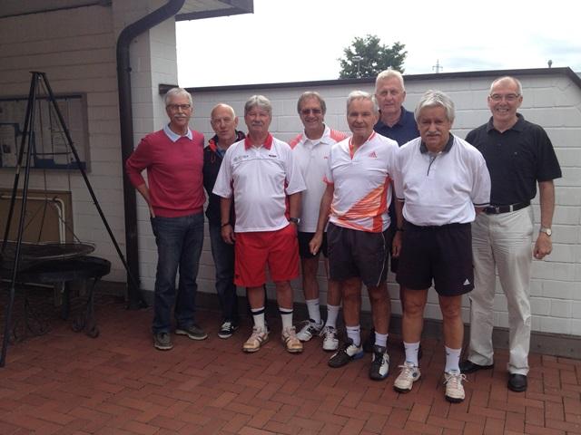 v.l.n.r.: Wolfgang Weuthen, Karl-Heinz Harz, Manfred Bettermann, Dietmar Hülser, Rolf Werth, Wolfgang Albiez, Peter Spelten, Gerd Lochten