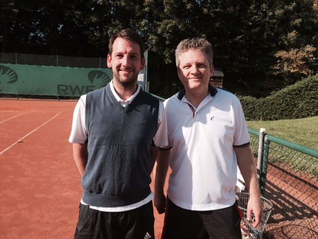 Guido Quirmbach (links) vs. Dominik Peters (rechts) 6:4, 6:7, 6:3