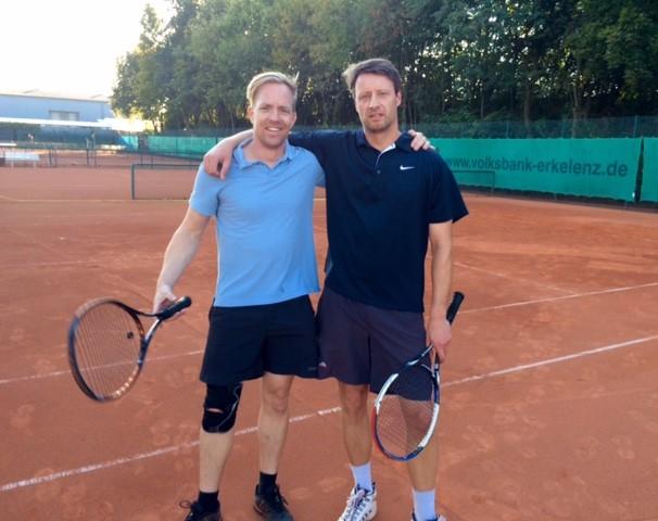 Basti Weuthen (links) vs. Johannes Lennartz (rechts) 6:3, 4:6, 10:6