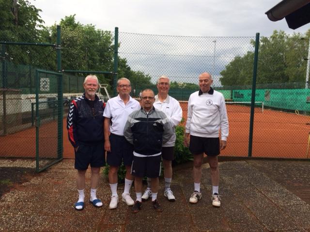 Herren 60 vom Post-Sportverein Erkelenz v.l.n.r.: Rüdiger Röttger, Martin Peters, Hartmut Eichler, Helmut Meurer, Gerd Lochten