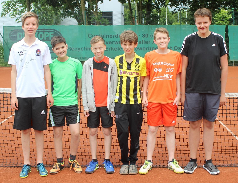 v.l.n.r.: Finn Junker, Moritz Schmidt, Luke Frenken, Joshus Gormanns, Aaron Becker, Simon Lennartz