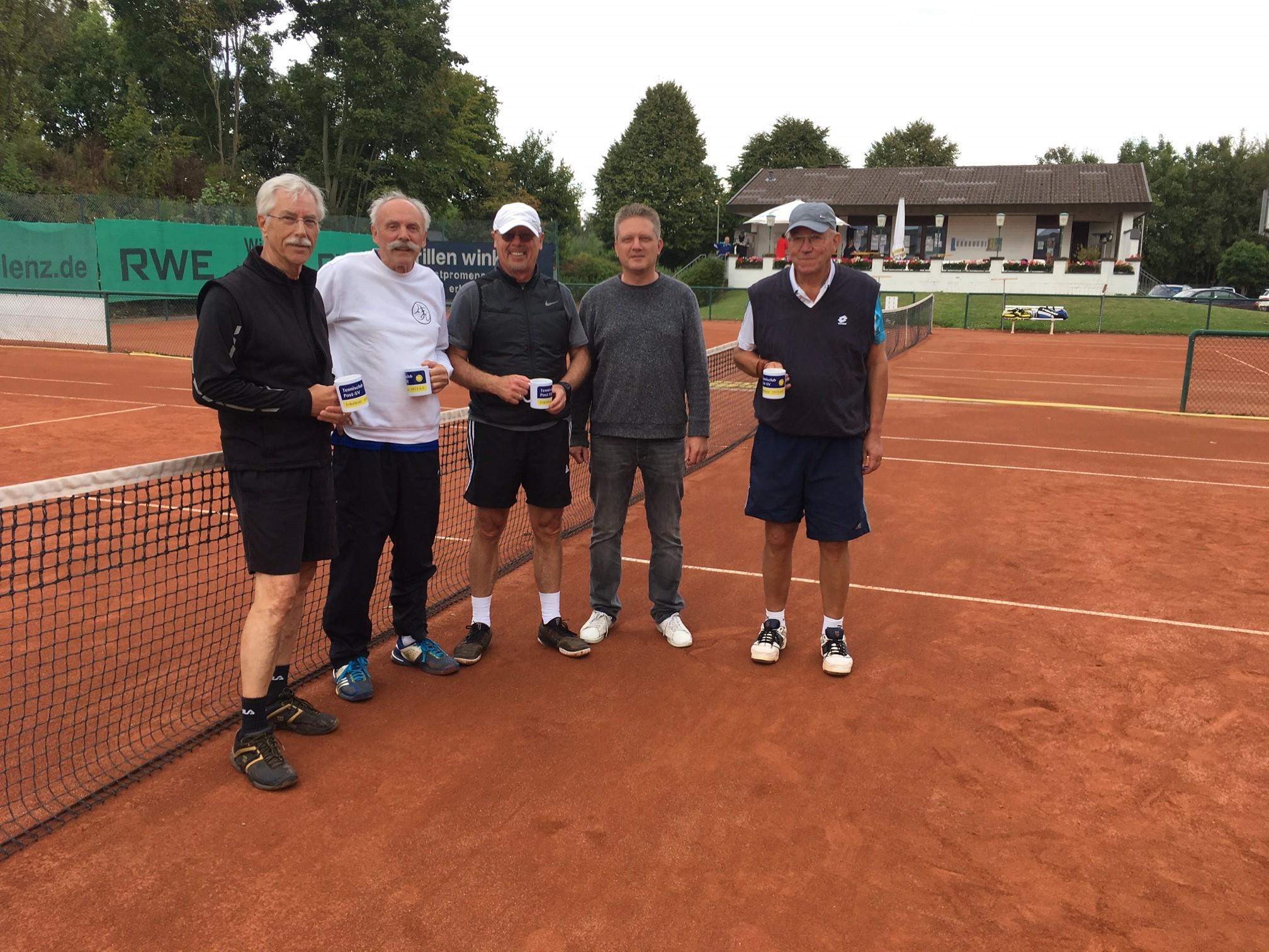 v.l. Wolfgang Weuthen, Roland Jaspers, Herbert Fervers, Dominik Peters, Peter Maßen